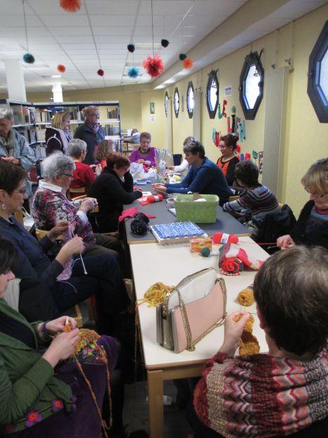 atelier tricot crochet Bibli Déols mars 2015